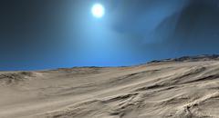 Space Planet Terrain Stock Illustration