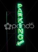 Parking sign neon light Stock Photos
