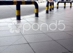 Concrete sidewalk pavement Stock Photos