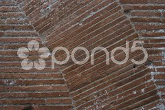 Closeup of an old brick wall with interesting lines Stock Photos
