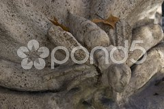 Detail of the famous Fontana delle Api in Rome Stock Photos