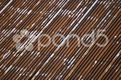 Corrugated galvanised iron Stock Photos