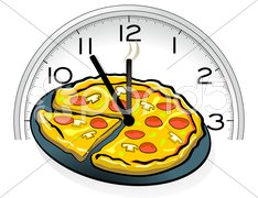 Pizza-Uhr Stock Photos