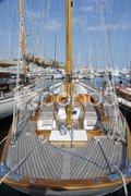 Yacht in Cannes Harbour. Cote d'Azur. France Stock Photos