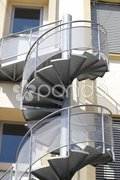 Spiral staircase to building in Cannes. France Stock Photos