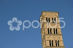Church belonging to the famous Forum Romanum in Rome Stock Photos