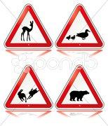 Vorsicht Tiere Stock Photos