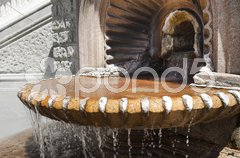 Hot water fountain from little town in Italy Stock Photos