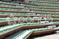 Exterior old amphitheater seats from a little town in Italy Stock Photos