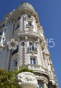 Ornate building. Cannes. Cote d'Azur. France Stock Photos