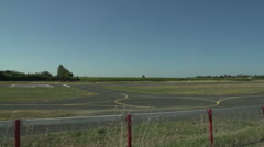 Light Aircraft Runway Filmed In France Stock Footage