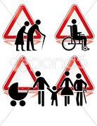 Vorsicht Behinderte Stock Photos