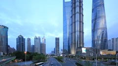 Shanghai,China: Downtown area of Shanghai city Stock Footage
