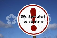 Weiterfahrt verboten Stock Photos