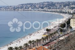 Bay of Angels at Nice. Cote d'Azur. France Stock Photos