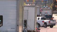Gridlock traffic jam in summer heatwave Stock Footage