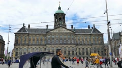Dam square on a sunny day Stock Footage