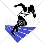 Laufen Sprint Stock Photos