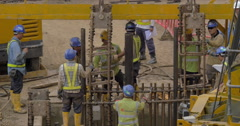 Construction works in Hong Kong Stock Footage