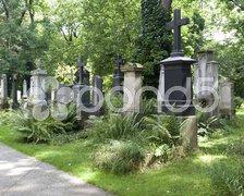 Munich south cemetery Stock Photos