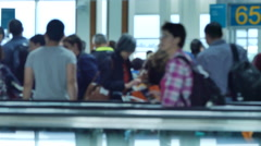 People waiting for boarding airport Stock Footage