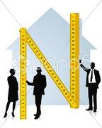 Architekt und Bauherr Stock Photos