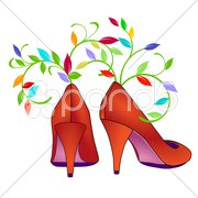 Blumen Shoes Stock Photos