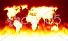 Earth map fire Stock Photos