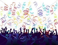 Party mit Konfetti Stock Photos