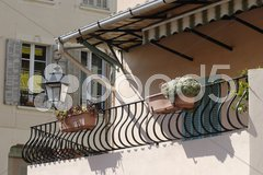 Balcony on house in Cannes. Cote d'Azur. France Stock Photos