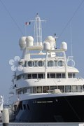 Super yacht in Cannes Harbour. Cote d'Azur. France Stock Photos