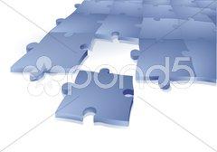 Zusammenarbeit Puzzle Stock Photos