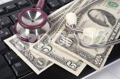 Gesundheit kostet Dollar Stock Photos