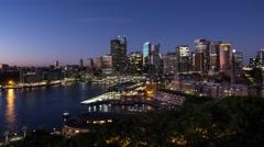 Aerial Timelapse of Sunrise over Sydney CBD in 4k Stock Footage