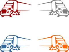 Big truck silhouette Stock Illustration