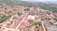 Aerial view of human settlement Stock Footage