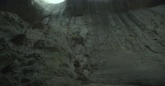 Cave with two holes as human eyes Stock Footage