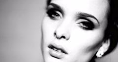 4k video portrait of pretty brunette woman Stock Footage