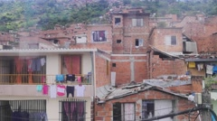 Colombian slums Stock Footage