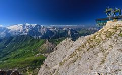 Dolomiti - view from Sass Pordoi Stock Photos