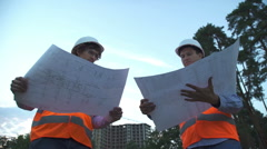 Construction worksers. Best team Stock Footage