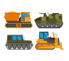 Caterpillar vehicle tractor vector Piirros