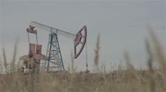 Oil nodding donkey Stock Footage