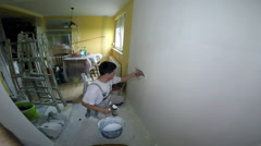 Interior View of House Under Renovation Stock Footage