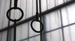 Gymnastic Rings At The Gym Stock Footage