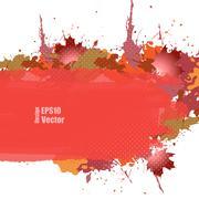 Grungy autumn vector Stock Illustration
