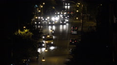 Timelapse Rome City, Cars Night Traffic, People Crowd in Street by Evening Stock Footage
