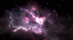Space flight through nebula. Space travel Stock Footage