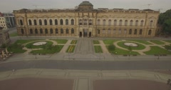 Camera flies towards the west walls of Zwinger Stock Footage