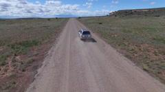 Following SUV Through Desert Stock Footage